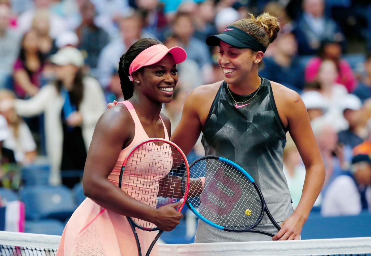 Слоун Стивенс (слева) обыграла в финале US Open Мэдисон Кис  / Reuters
