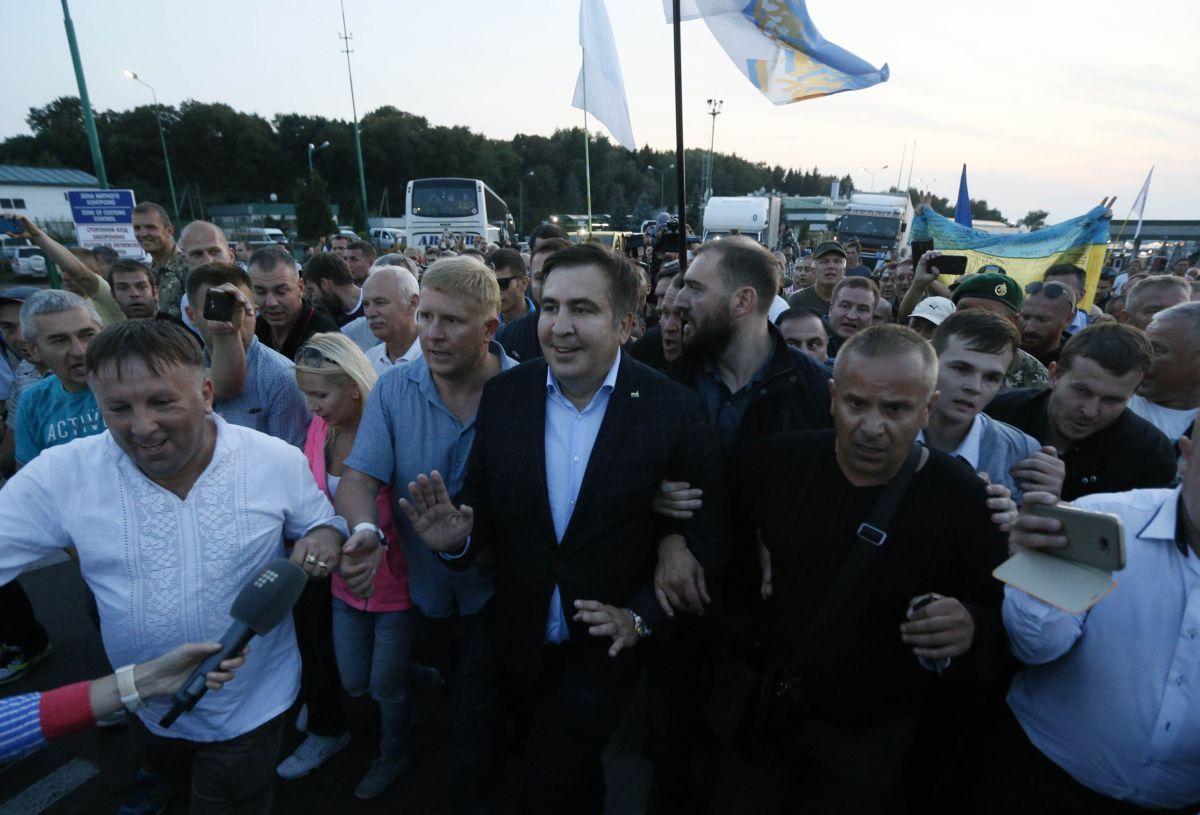 Міхеіл Саакашвили на границе / REUTERS