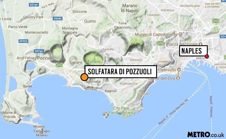 Инцидент произошел на вулкане Сольфатара близ Неаполя / фото Metro.co.ru
