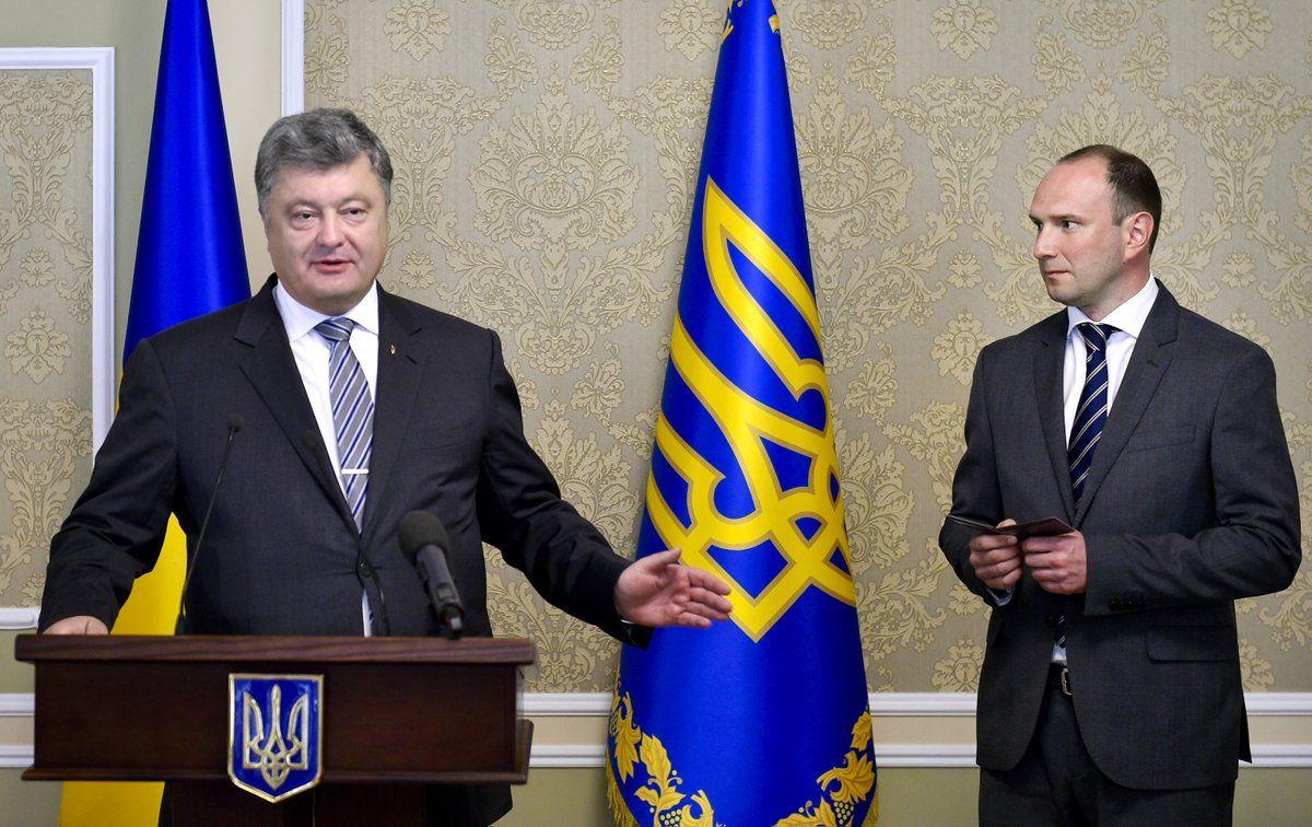 Сразу после увольнения Егора Божка назначили замом Климкина / фото пресс-служба президента