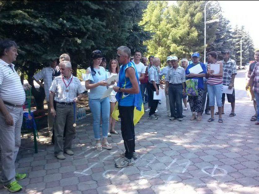 В ЛНР спортсмена арестовали за флаг Украины / facebook.com