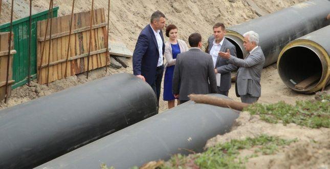 Кличко рассказал, когда закончится ремонт теплотрассы на проспекте Соборности / Фото КГГА