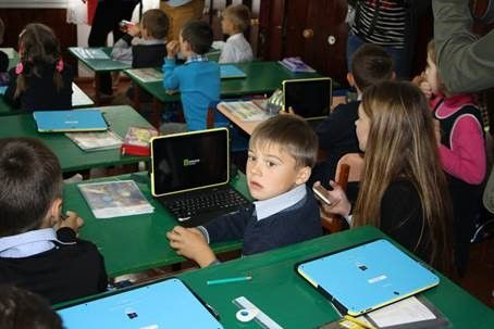 Гундич посетил Романовскую гимназию / фото УНИАН