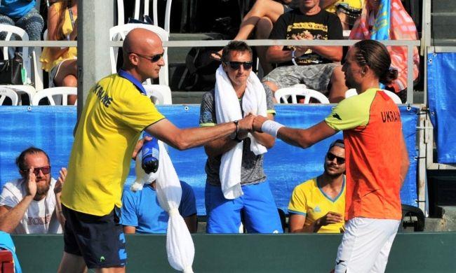 С победой Долгополова поздравил капитан сборной Украины Андрей Медведев / btu.org.ua