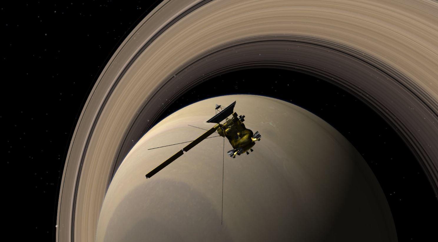 На орбите Сатурна зонд находился на протяжении 13 лет / скриншот УНИАН