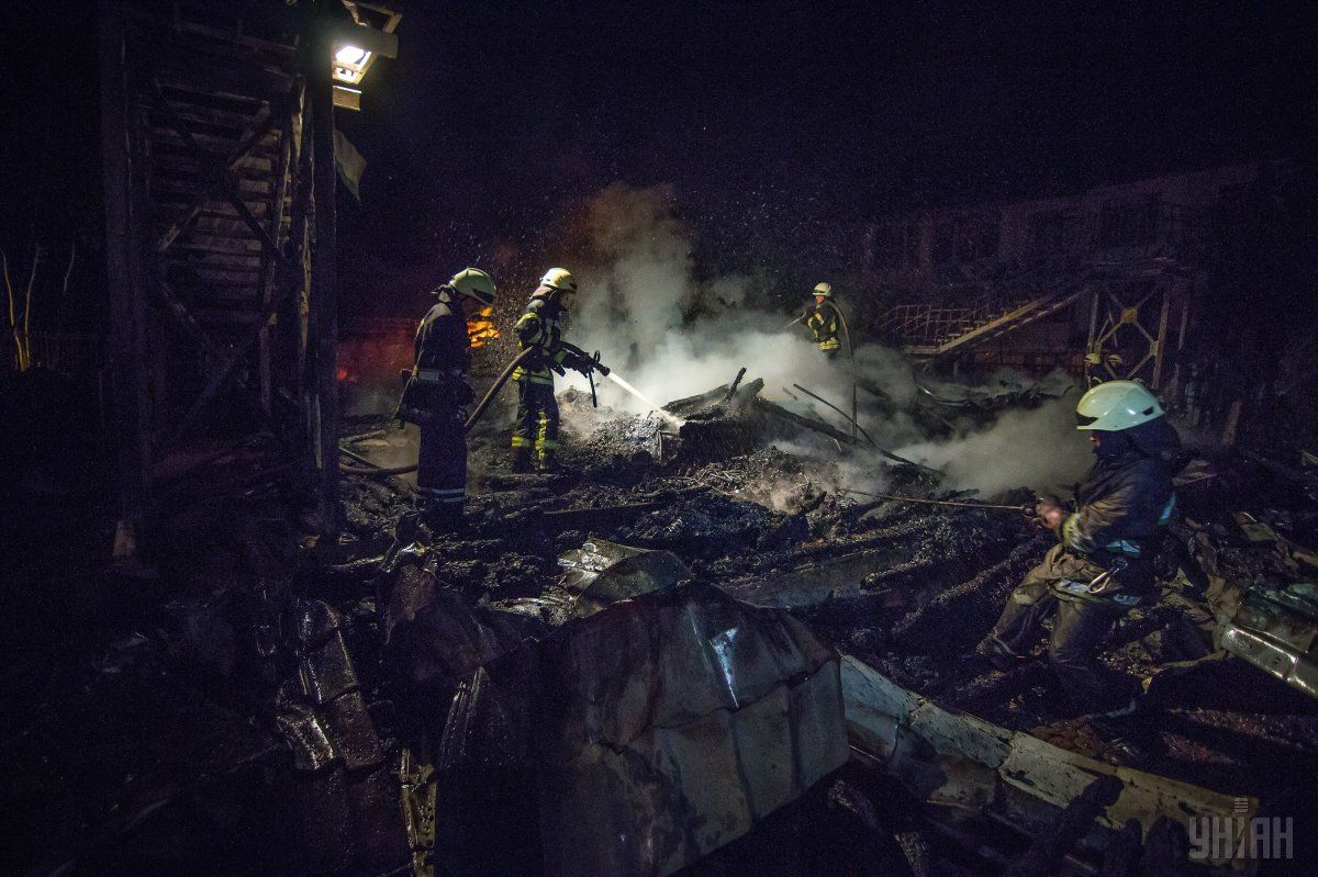 Об'єкт дослідження майже повністю знищений вогнем / фото УНІАН