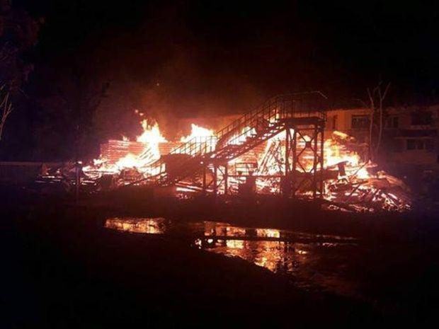 Пожар в лагере: уже есть двое задержанных / фото npu.gov.ua