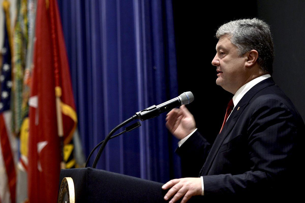 Президент Украины Петр Плюрошено / фото president.gov.ua