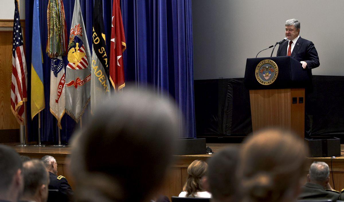 Порошенко виступив у Військовій академії США