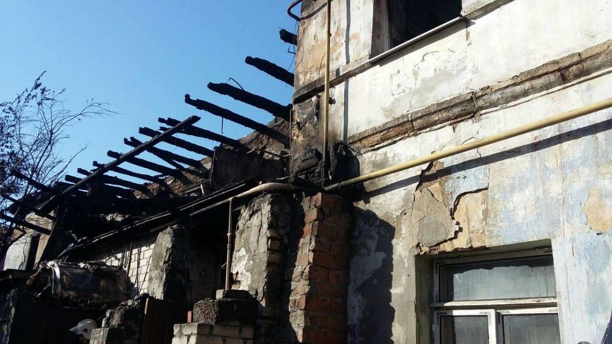 Пожар произошел в двухэтажном жилом доме / Фото dsns.gov.ua