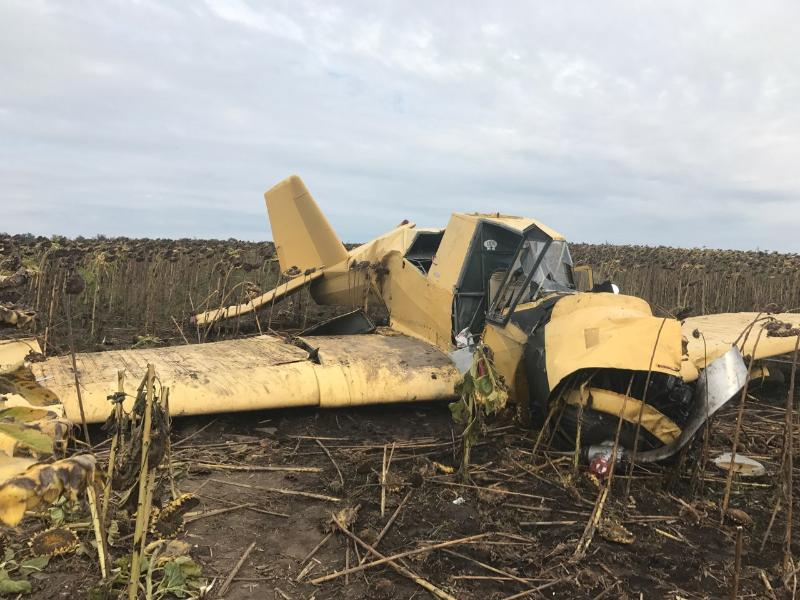 Попередня версія аварії - технічна несправність літака / Фото dsns.gov.ua
