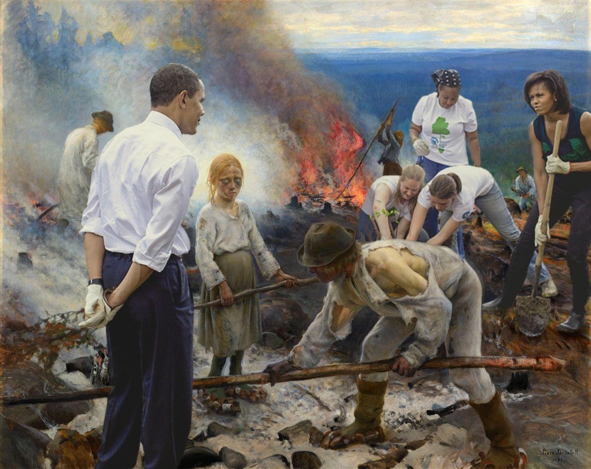 Сжигание хвороста (1893) / фото Reddit