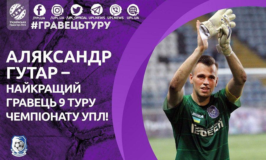 Гутар не пропустил ни одного голе от лидера чемпионата Украины