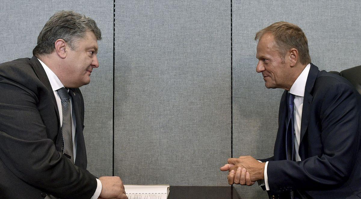 Порошенко зустрівся з Туском / фото president.gov.ua