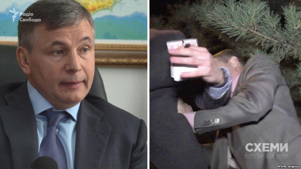 Начальник УДО Валерій Гелетей та скрін-шот із відео нападу на знімальну групу програми