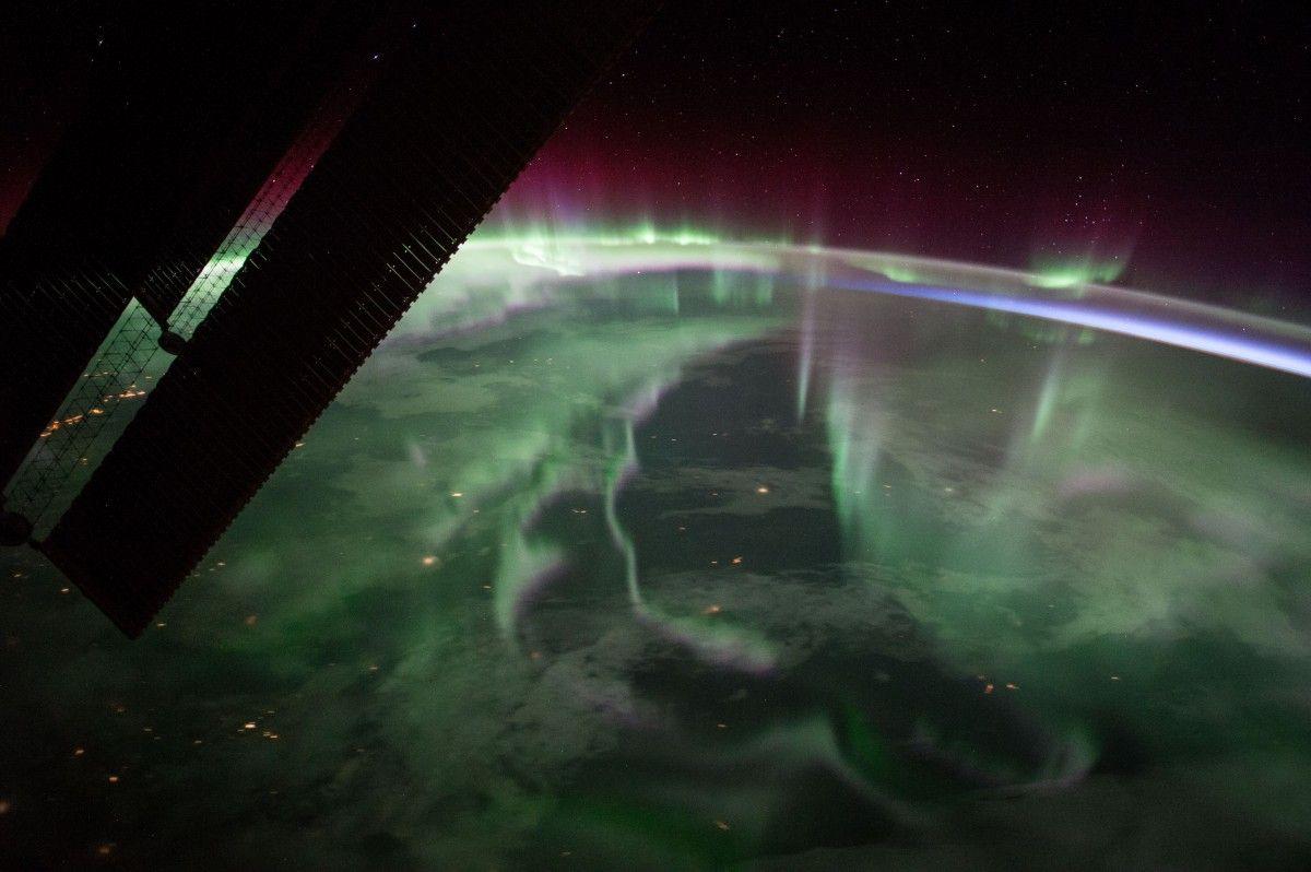 Північне сяйво над Канадою / фото nasa.gov