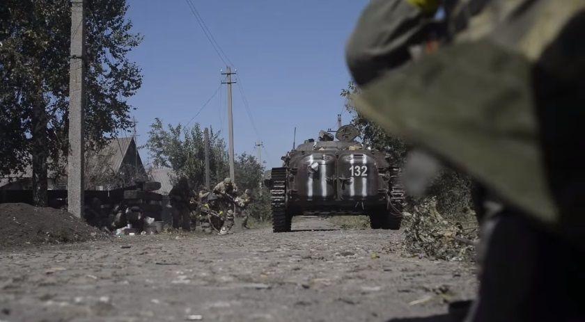 В районе Иловайска шли ожесточенные бои / Скриншот