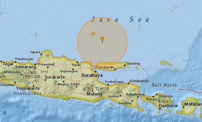 В Индонезии произошло землетрясение / earthquaketrack.com