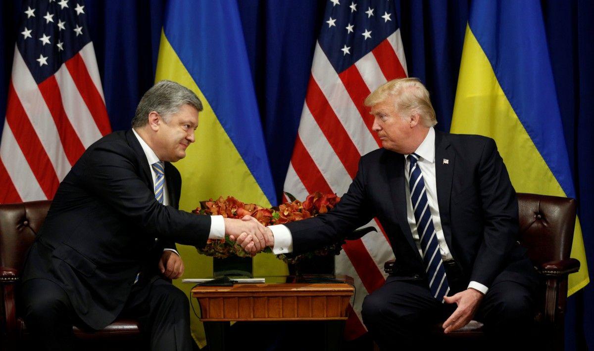 Петро Порошенко і Дональд Трамп / REUTERS