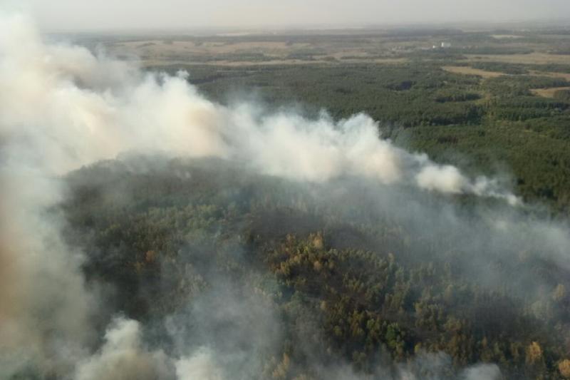 На месте пожара организован штаб по ликвидации пожара / фото dsns.gov.ua