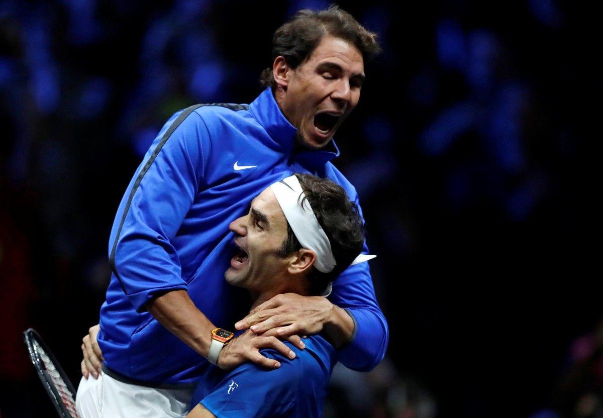 Рафа Надаль и Роджер Федерер впервые в истории сыграли друг с другом в паре / Reuters
