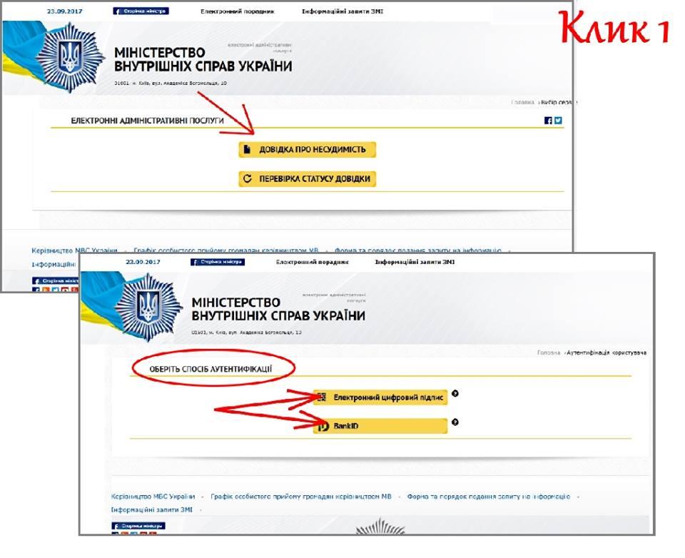 Для заказа справки нужно зайти на сайт mvs.gov.ua или hsc.gov.ua / фото Арсен Аваков, Facebook