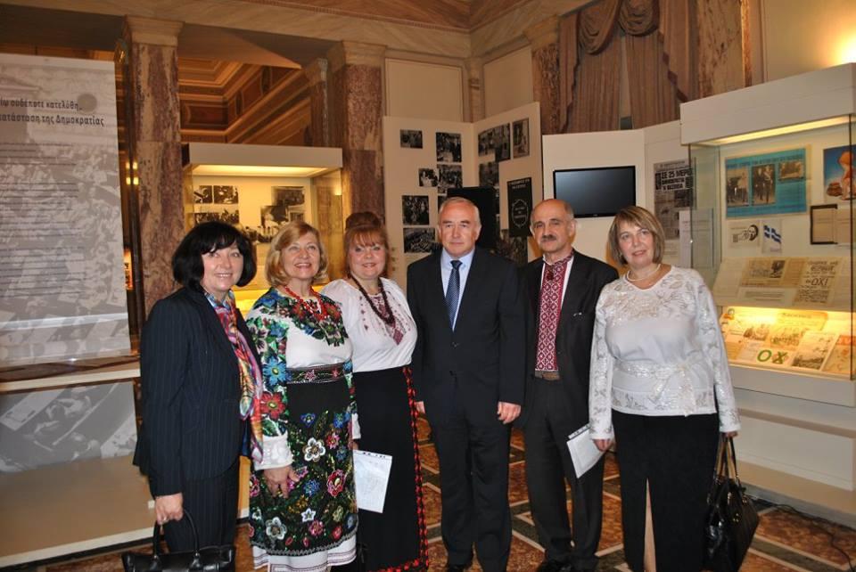 Владимир Шкуров с украинской делегацией.