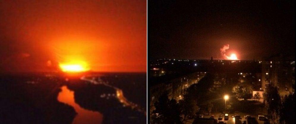 Explosions in Kalynivka / Photo from @nikitanegelev