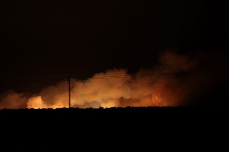 Пожежа і вибухи на складі боєприпасів почалися 26 вересня о 22:00 / фото УНІАН