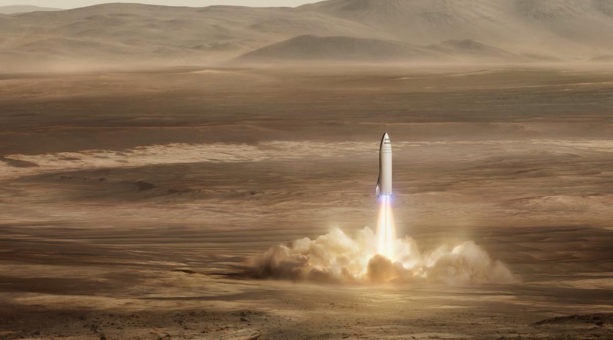 SpaceX планирует начать колонизацию Марса в 2022-ом