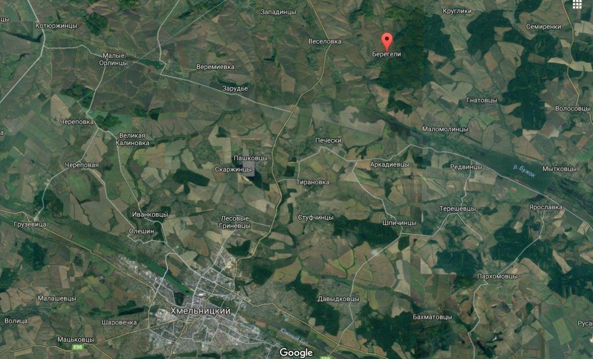 Самолет разбился в селе Берегели / Скриншот