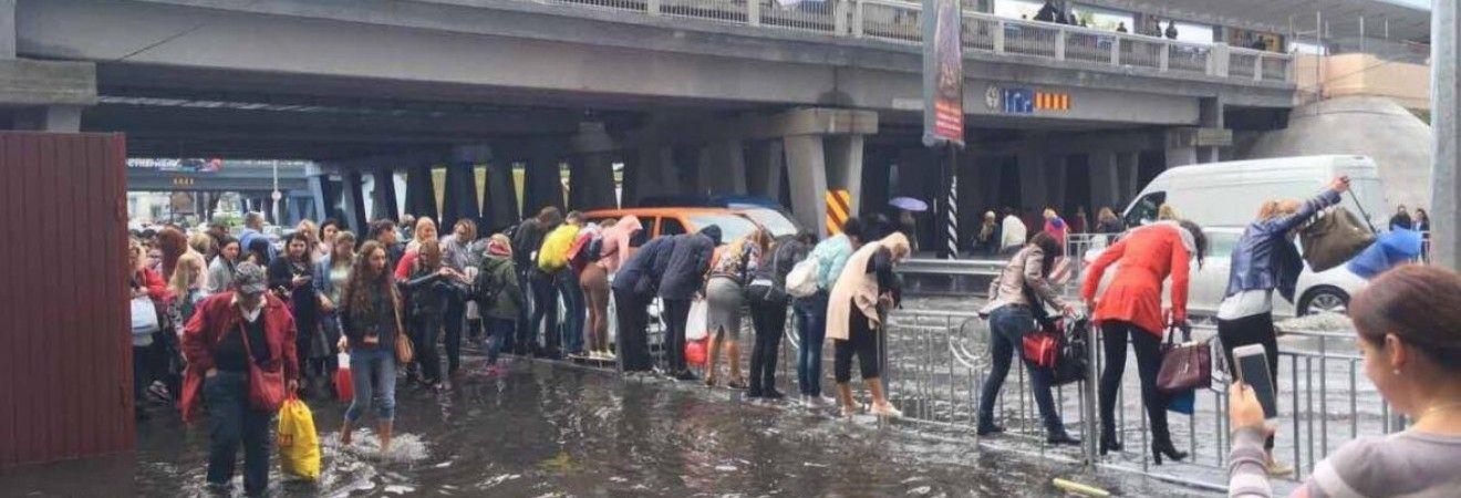 Киев накрыл ливень - ряд улиц затопило (фото, видео)