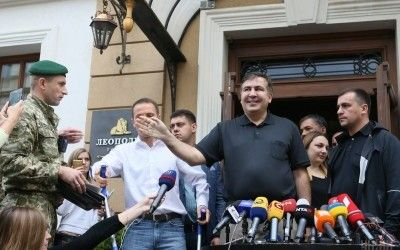 Week's milestones. YES forum and Saakashvili row title=