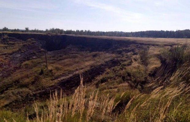 ВоЛьвовской области произошел масштабный обвал диаметром 200м