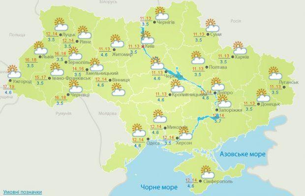 Прогноз погоди на 2 жовтня в Україні