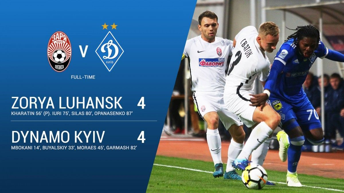 «Заря» и«Динамо» забили восемь мячей надвоих