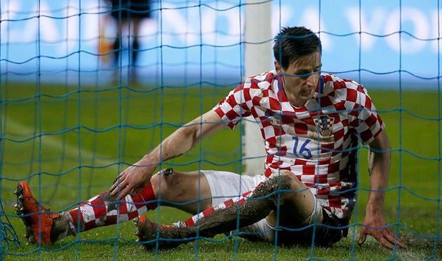 С Украинским государством несыграет основной форвард сборной Хорватии