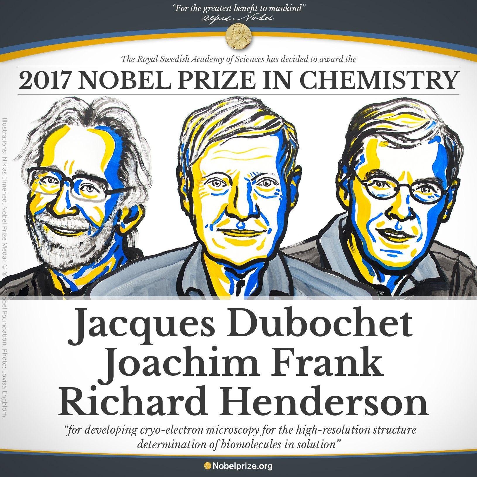 Нобелевскую премию по химии поделят между собой трое ученых / Фото nobelprize.org