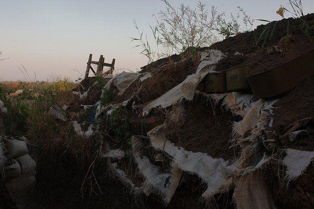 Бои продолжались в районе Новотроицкого / facebook.com/backandalive