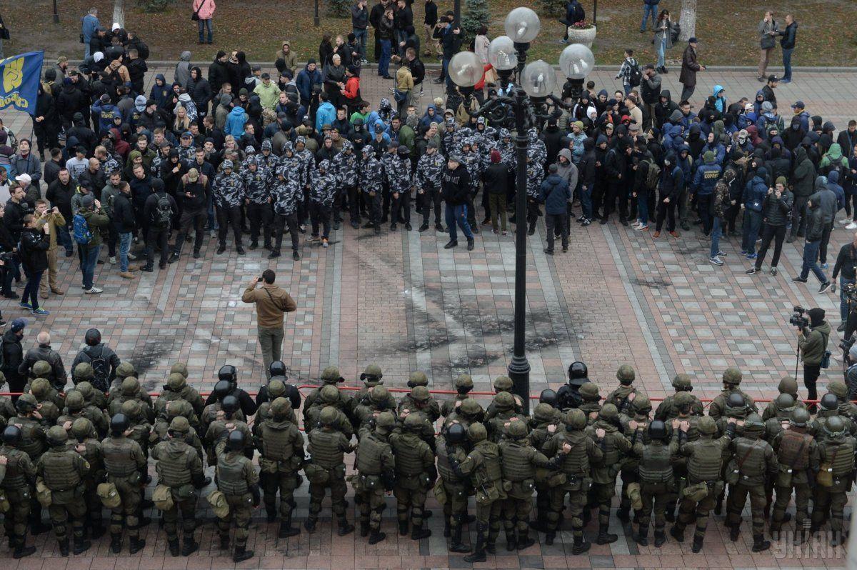 По состоянию на 18.40 все митингующие разошлись / фото УНИАН