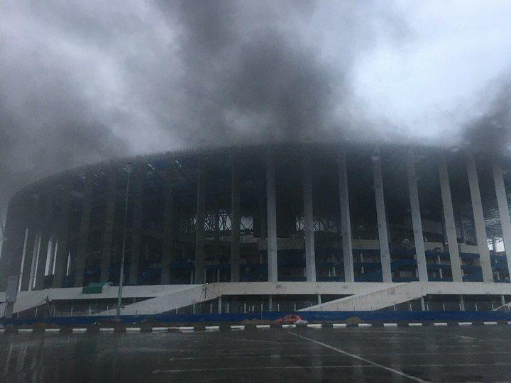 На стадионе в Нижнем Новгороде произошел пожар / mk.ru