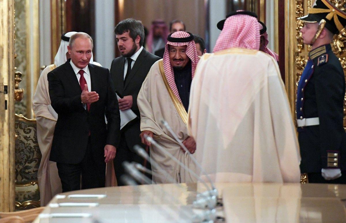 Салман бен Абдель Азіз Аль Сауд Володимир Путін і / REUTERS