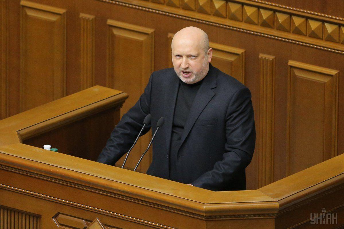 Турчинов в Раде / фото УНИАН