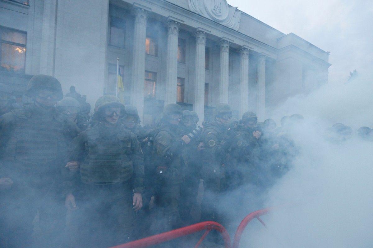 Беспорядки возле Рады / REUTERS