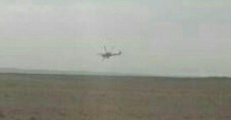 Также Штрицель опубликовал фото вертолета РФ / twitter.com/bjoernstritzel