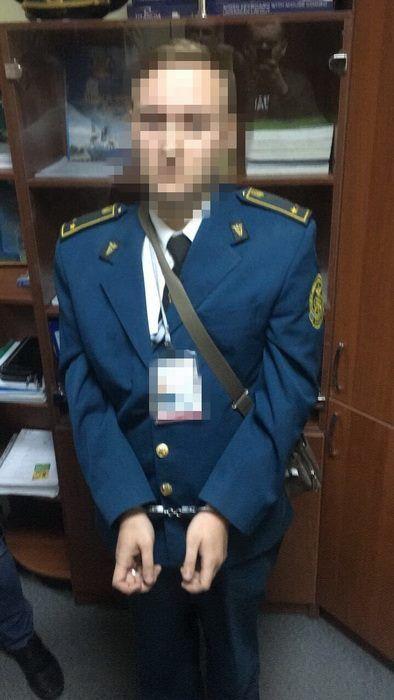 Инспектор был задержаны 5 октября / фото facebook.com/SecurSerUkraine