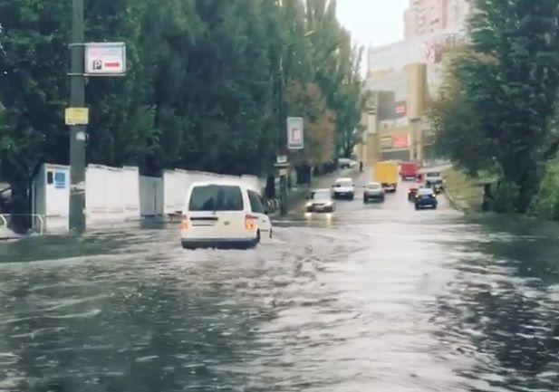 Наслідки зливи в Києві / Скріншот