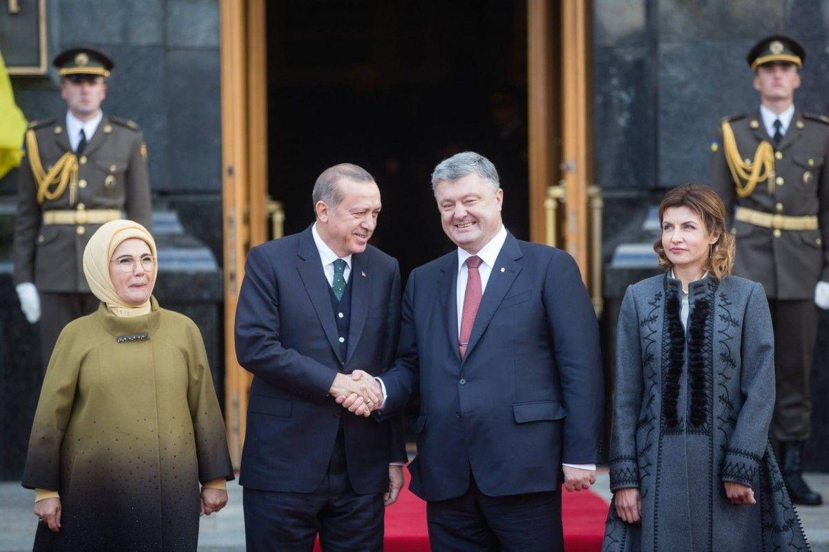 Ердоган приїхав напереговори із Порошенком