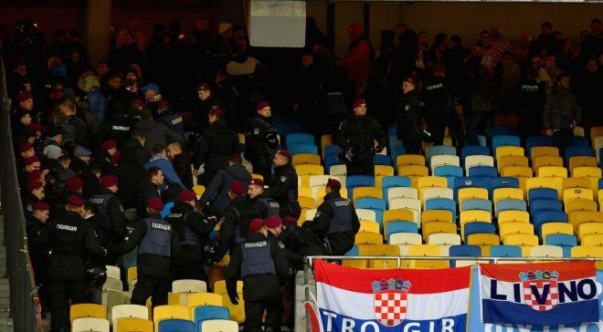 Хорватські фанати побилися з українською поліцією / sportske.jutarnji.hr