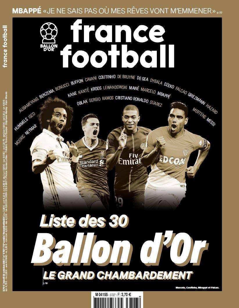 Обкладинка свіжого номера журналу France Football / facebook.com/Francefootball.fr